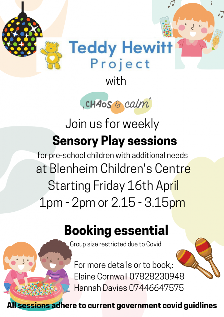 Chaos and Calm Sensory Play Sessions @ Blenheim Children Centre