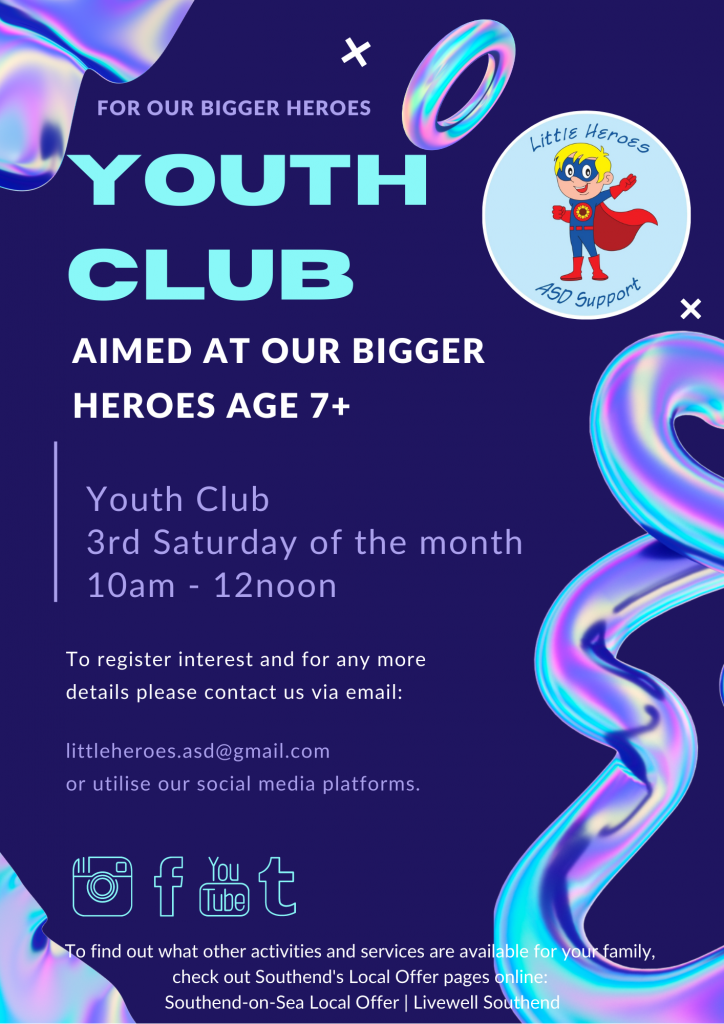 Little Heroes Youth Club @ Little Heroes ASD Support Hub